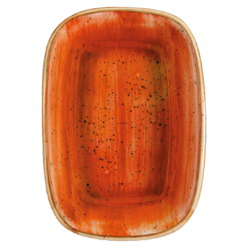 Aura Terracota pravougaoni tanjir  14 x10 cm/12 x 8.5 cm/17 x 11.5 cm