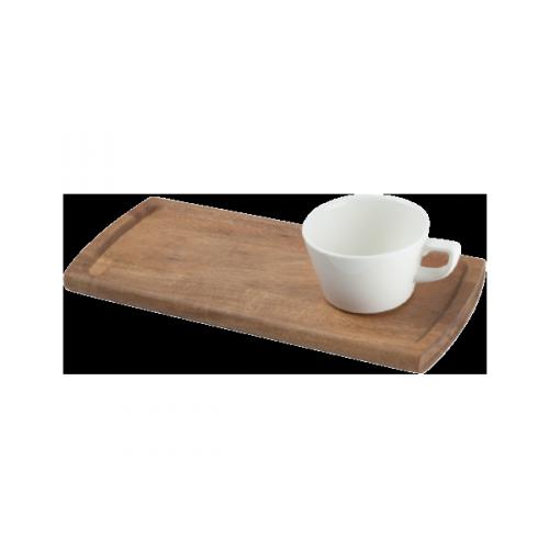 Daska pravougaona za  serviranje kafe 34 x 15 cm